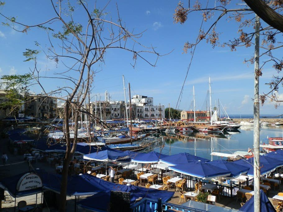 Gorgeous Kyrenia/Girne, an ancient Venitian port with its fortress castle and many traditional Gullet sail boats offering daily or evening cruises as well as a choice of restaurants serving seafood and local dishes.