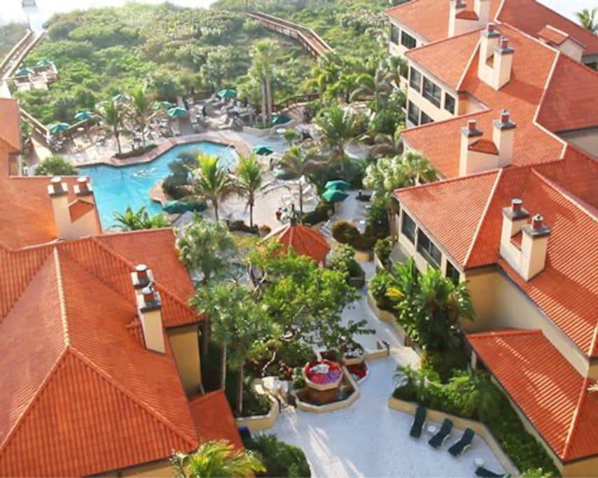 Aerial View of Pool & Amenities
