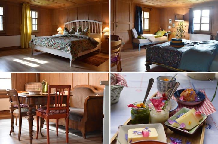 Urlaub in altem Schweizer Bauernhaus für 4-5 Gäste