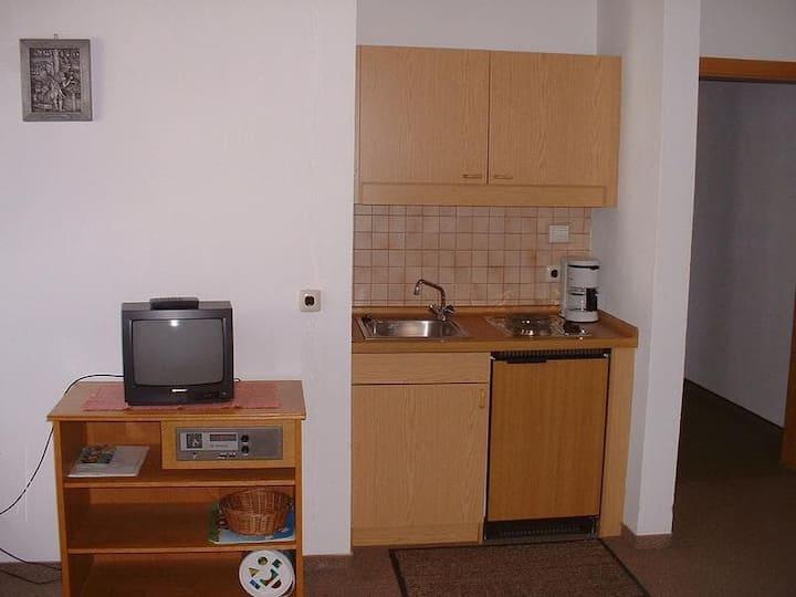 Gasthof Appartementhaus Söll'n (Lam), 2-Raum-Appartement Typ 4 (45qm) mit Küchenzeile