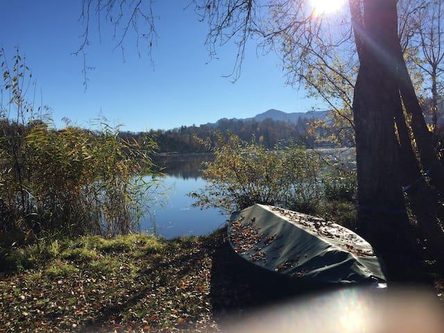 Paradies auf Erden - Ferienwohnung direkt am See - Seehausen am Staffelsee - Daire