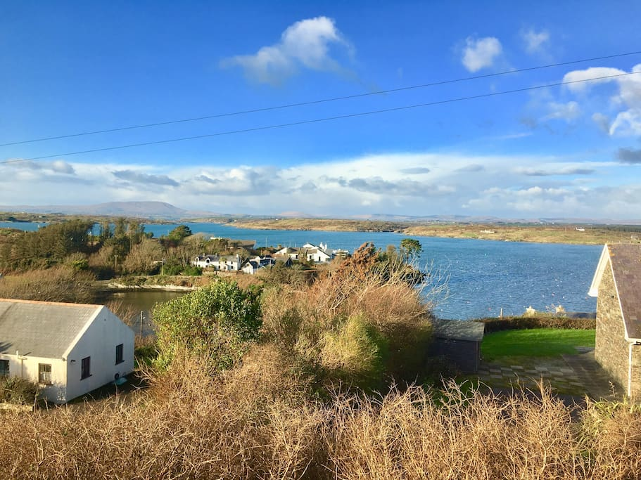 Sunny West Cork from the balcony.