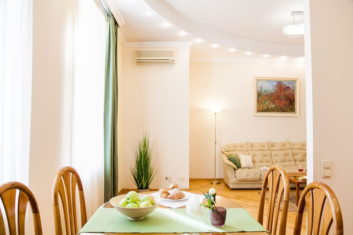 Large and bright apartment on Khreshchatyk