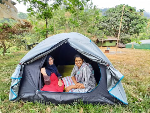 Hill top tent stay