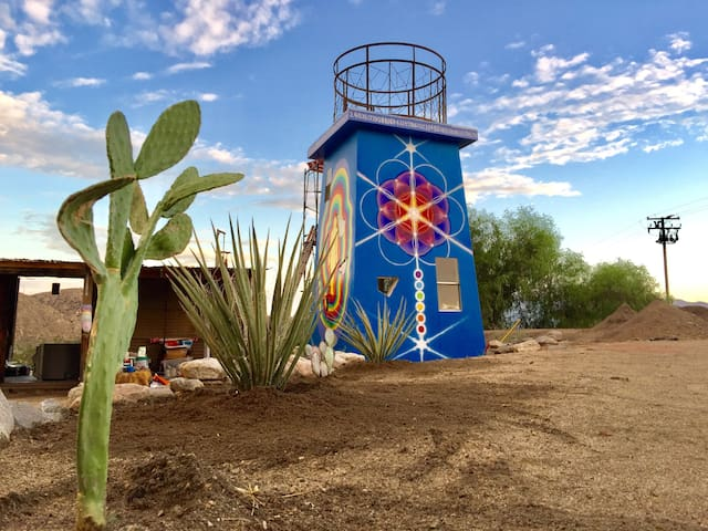 Colorful Art Filled Desert Oasis in Morongo Valley