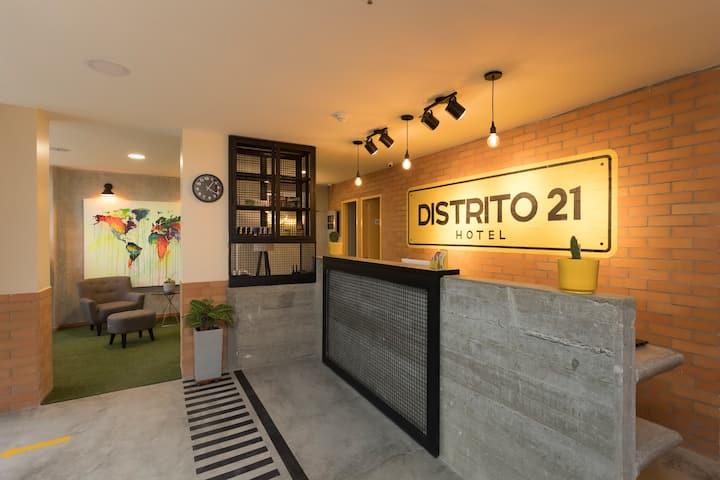 Hotel boutique con diseño moderno y urbano