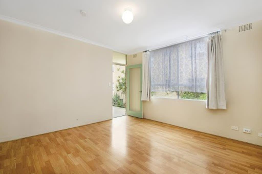 Living room - opens onto a balcony