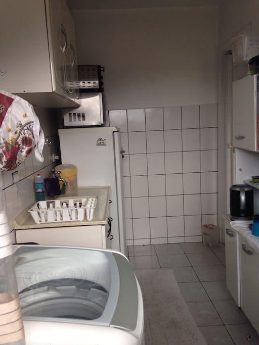 Cozinha e lavanderia compartilhada