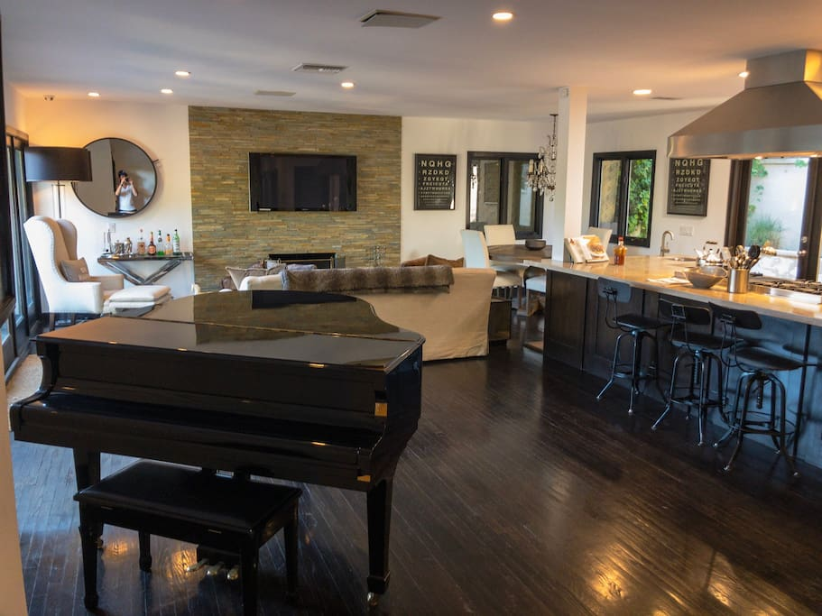Upstairs Living Room - Piano