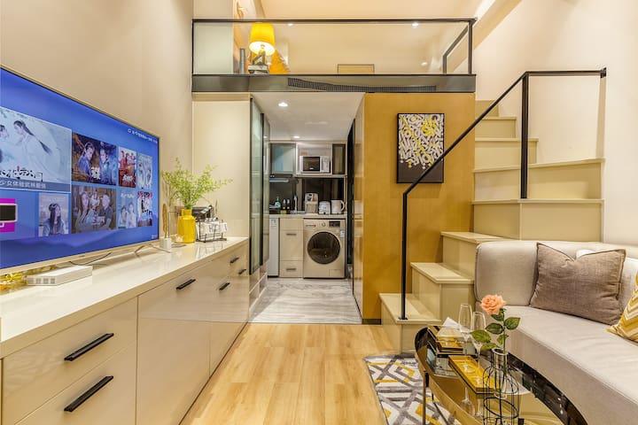 珠江新城 loft超温暖设计 有爱房东 有家感觉,安全 开放 已消毒