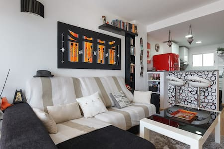 Double room beach front, sea view. - Castelldefels