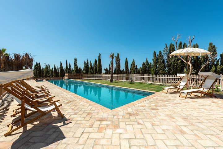 Casa Rural con piscina y parque infantil - Jerez