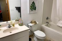 Full bath with tub & shower - private