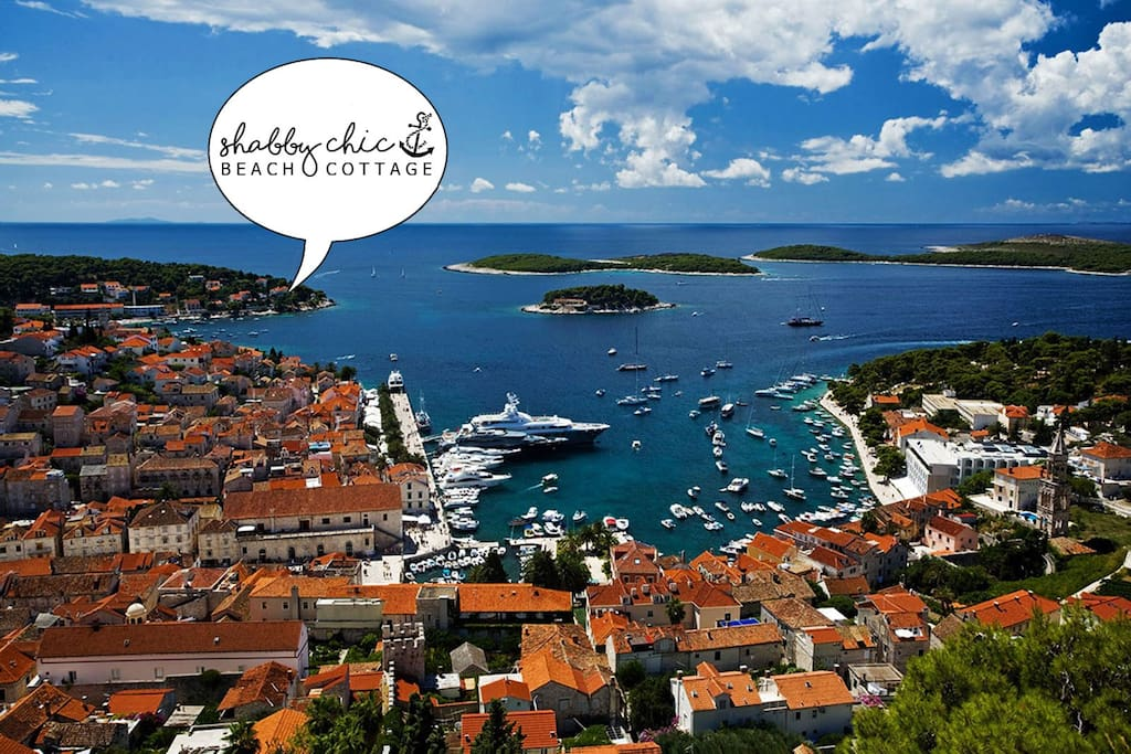 15min walk along the shore to the historical centre of Hvar
