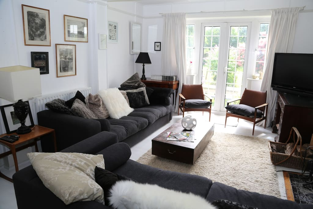 Sitting Room with French doors onto the south garden