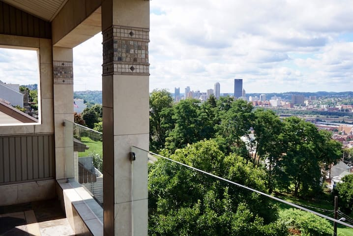 Enjoy the panoramic view of beautiful Pittsburgh from Master suite balcony.  Perfect place to drink your coffee in the morning or cocktails at night!