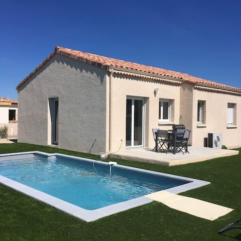 Gîte L'Ovaline - neuf + piscine privée