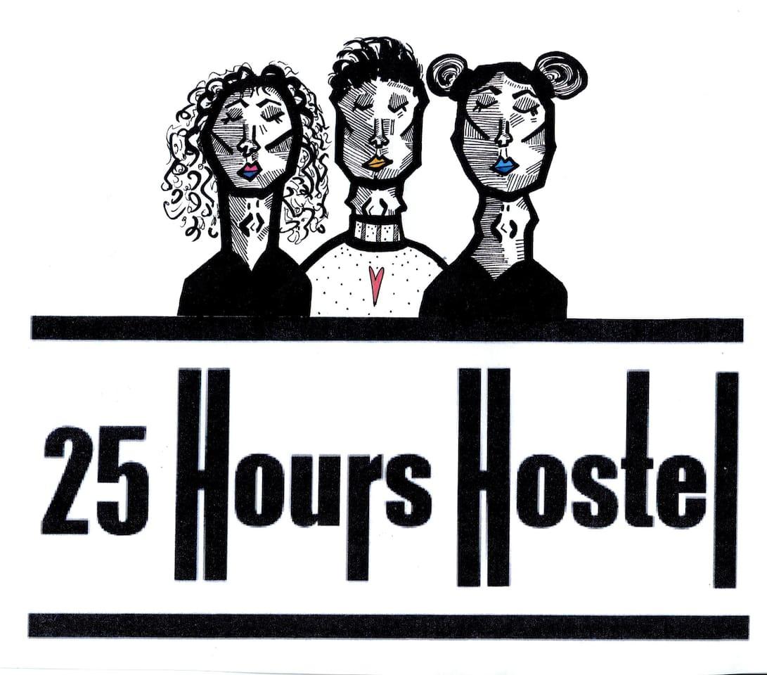 25 Hours hostelm logo