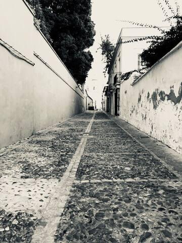 Callejones empedrados llenos de historia, así son las calles de Sanlúcar de Barrameda.