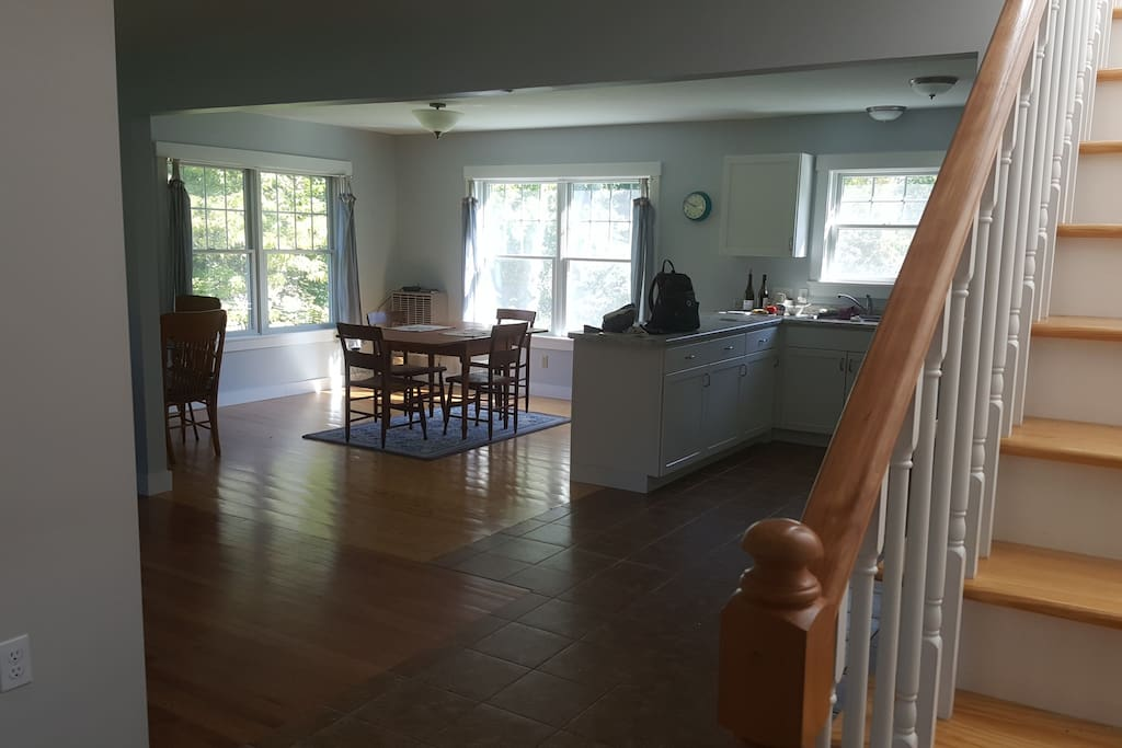 Open floor plan downstairs