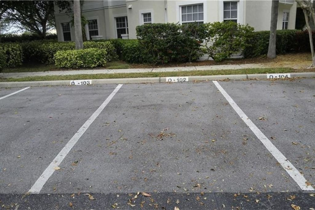 We have a total of 3 dedicated parking spots (one of the only ones at bollettieri resort villas)