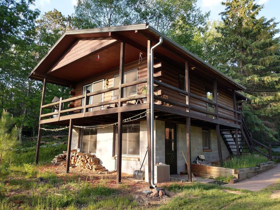 Quiet lakeside northwoods cabin cabins for rent in for Northwoods wisconsin cabin rentals