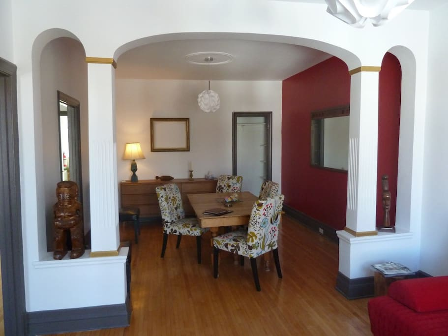 double living room - dining room
