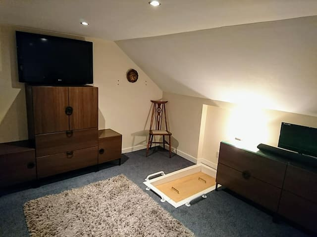 tv with closable hatch