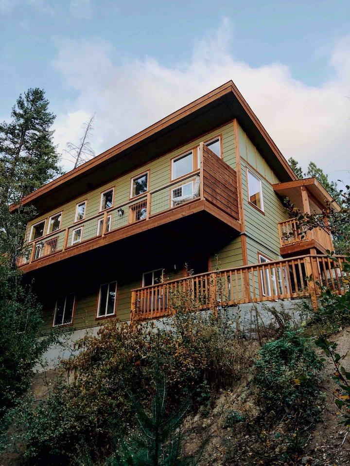 Midcentury Mountain Cabin w/tree view-DOG FRIENDLY