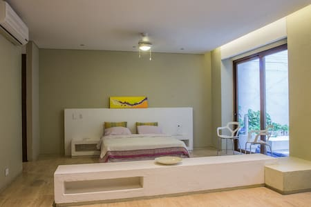 Santa Marta Studio with Private Jacuzzi - 圣玛尔塔