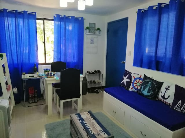 Santorini inspired unit in Muntinlupa