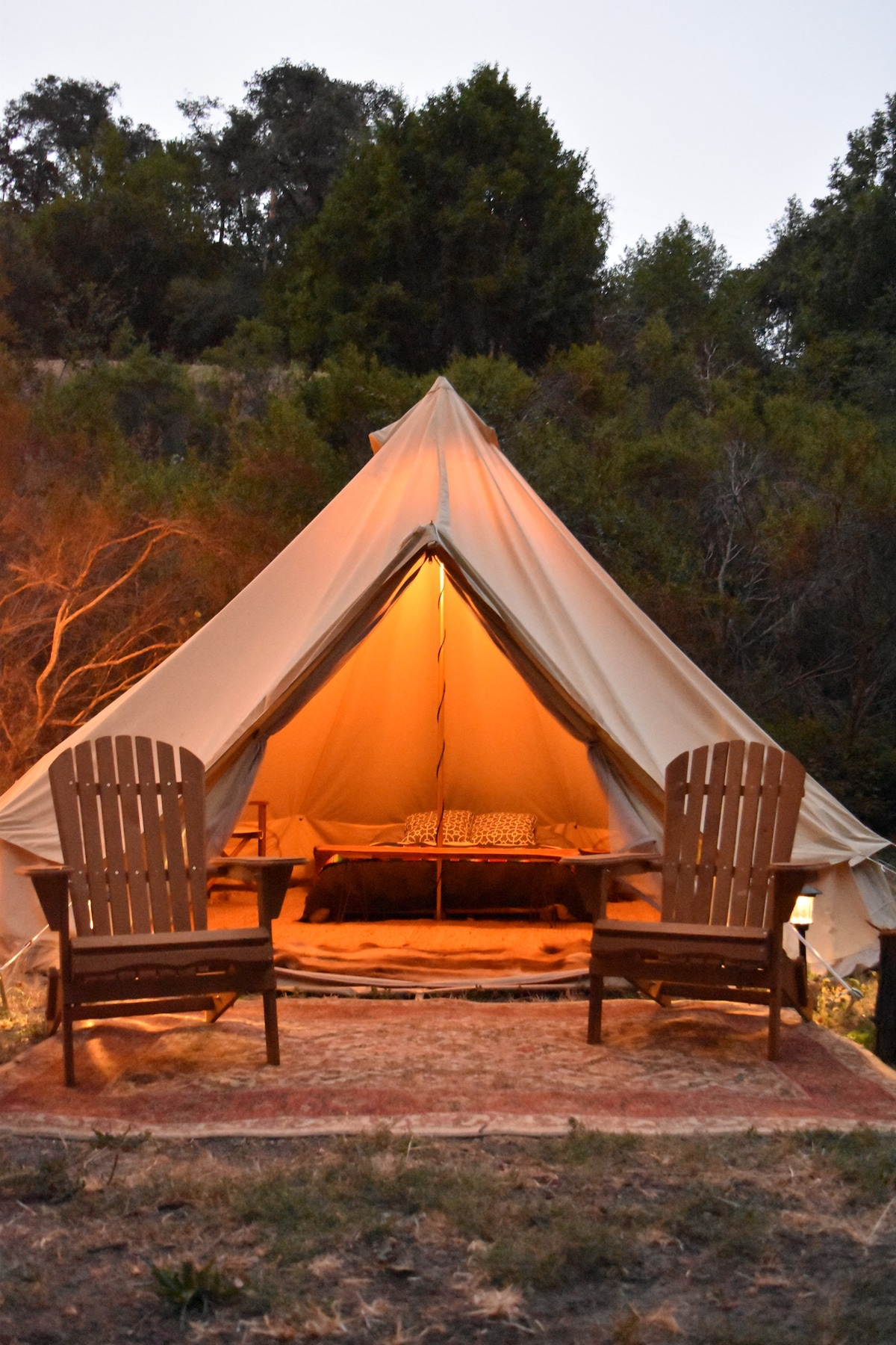 The most romantic tent on earth! & Private Luxury Glamping Tent Designer Decorated - Tents for Rent ...