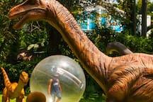 Dino Park  a 7 minutos.  Es un parque de diversiones donde podrás convivir con animatronics de dinosaurios en sus ambientes naturales.  Podrás caminar al lado de las figuras jurásicas que se mueven y realizan sonidos reales.