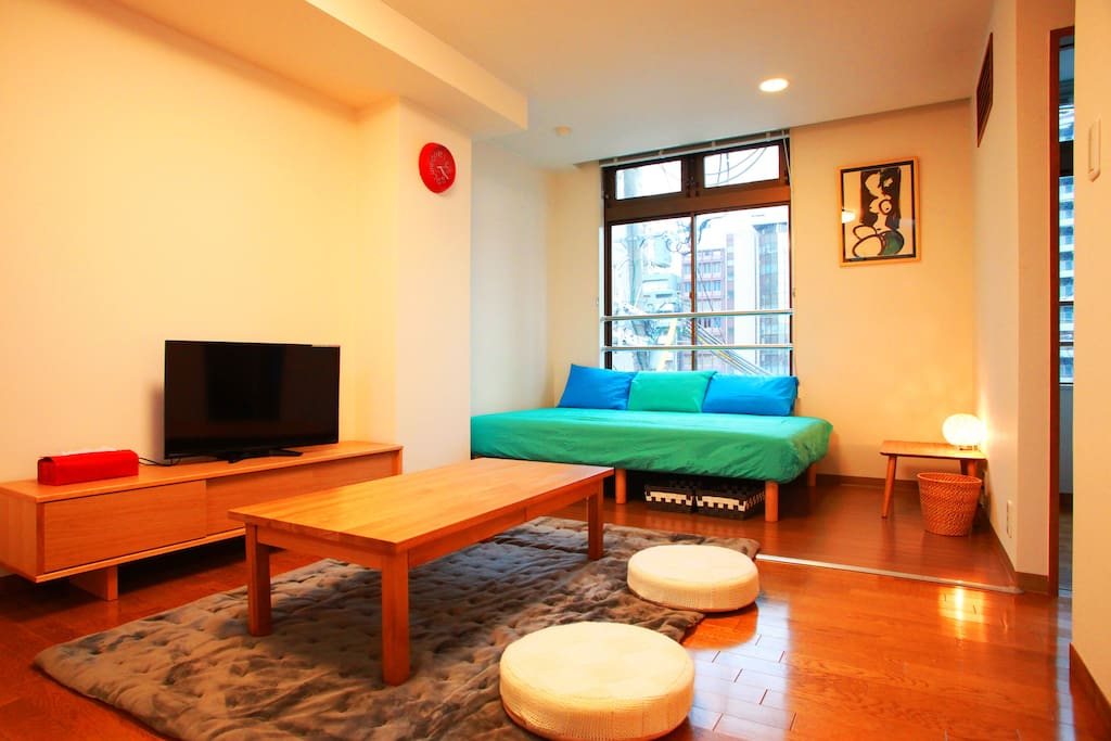 Osaka station is near cozy room muji furniture for Furniture rental japan