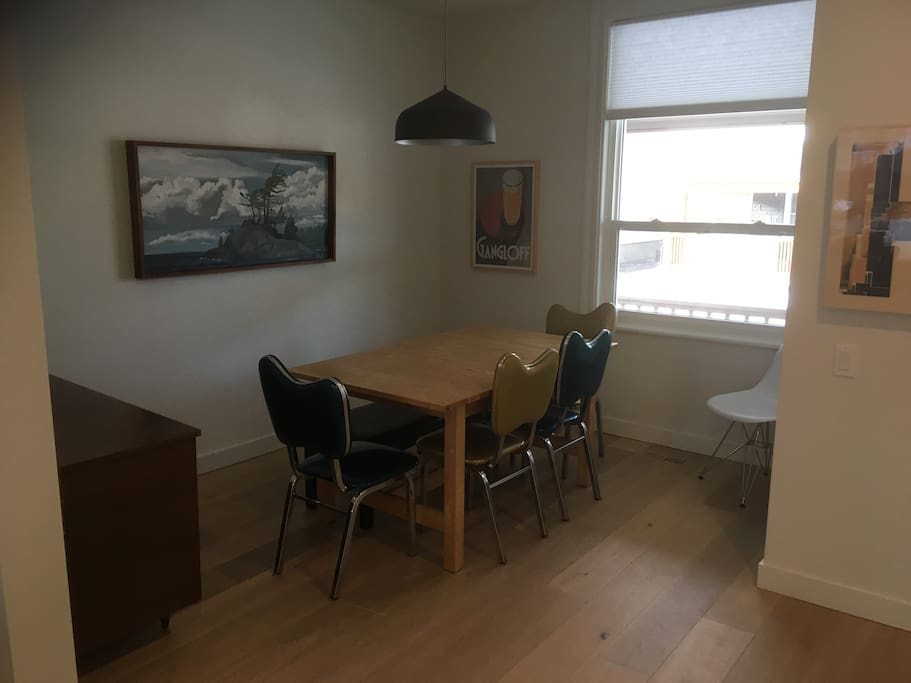 Dining room with a table for 6