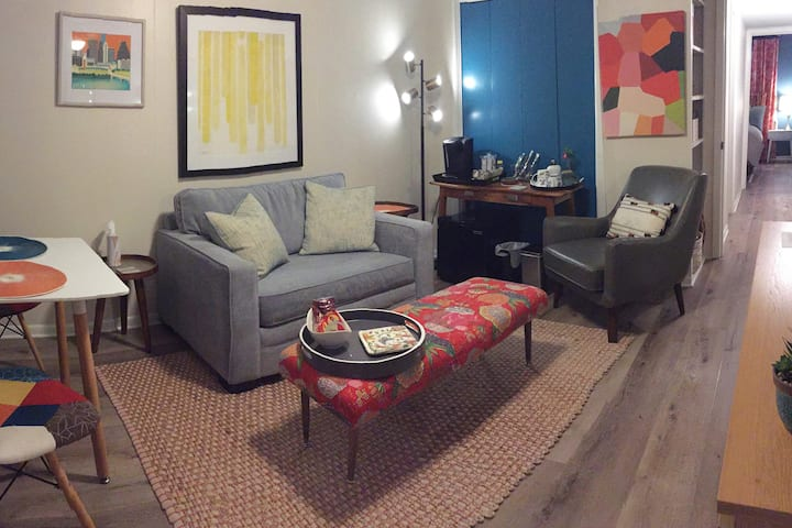 Private Guest Suite - living room + bedroom + bath