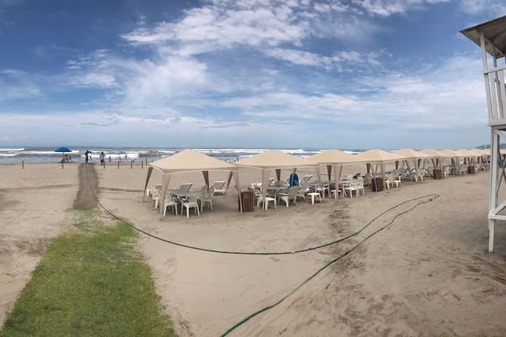 Departamento en la playa.