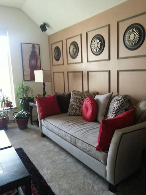 this is my family room where I will welcome you with a glass of wine or cup of coffee