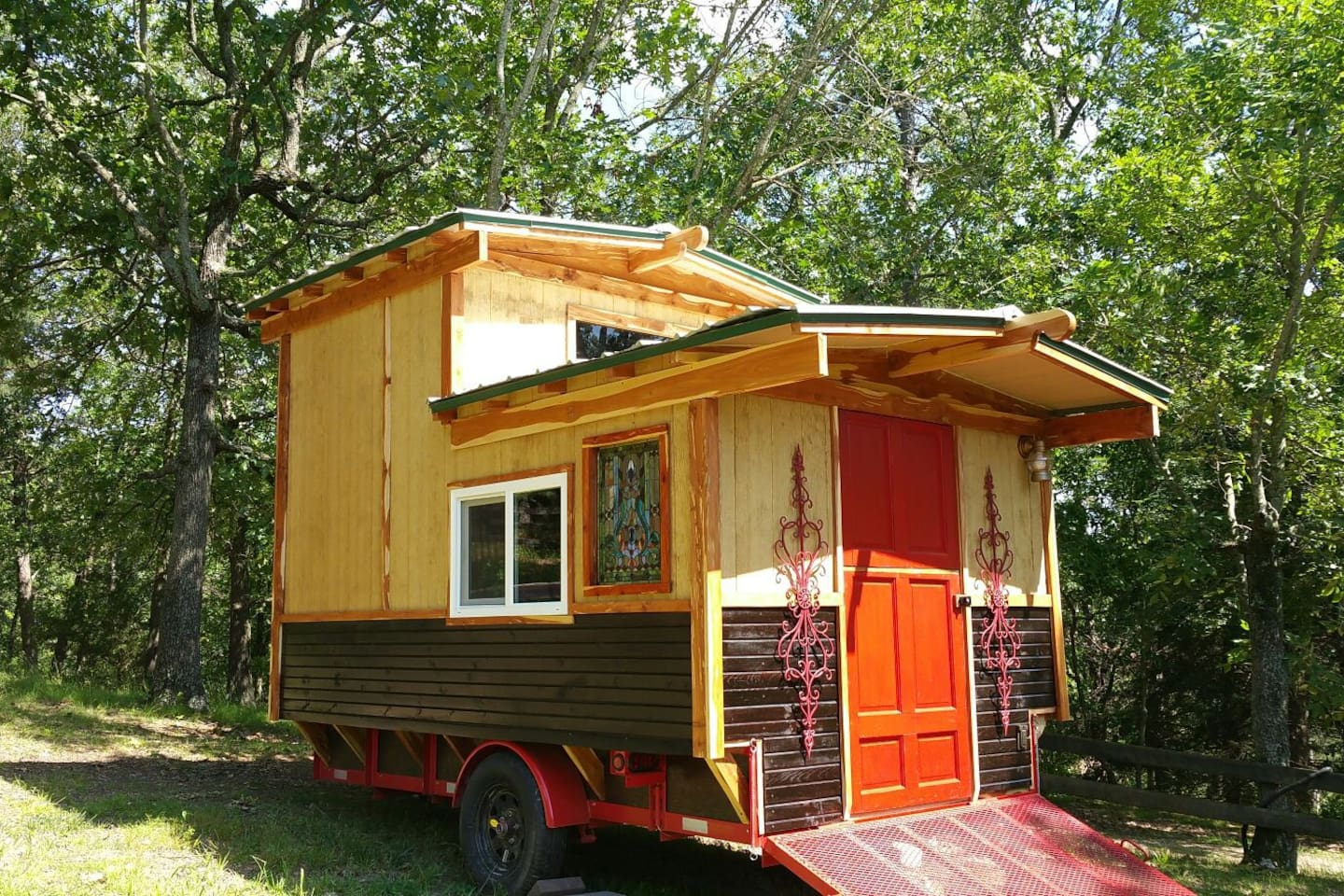 The Gypsy Wagon has 2 levels with an extra twin bed in the sleeping loft.