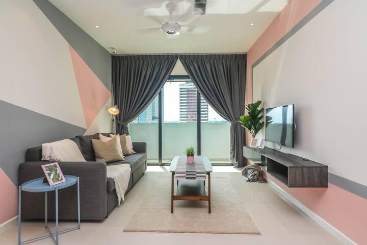 【Suasana】 RentRadise Bonie Suite【1Min City Square】