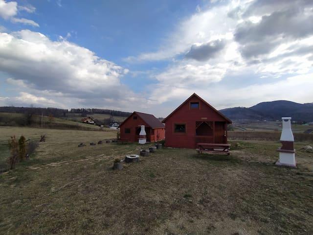 Domki na odludziu/uboczu/bez sąsiadów w górach