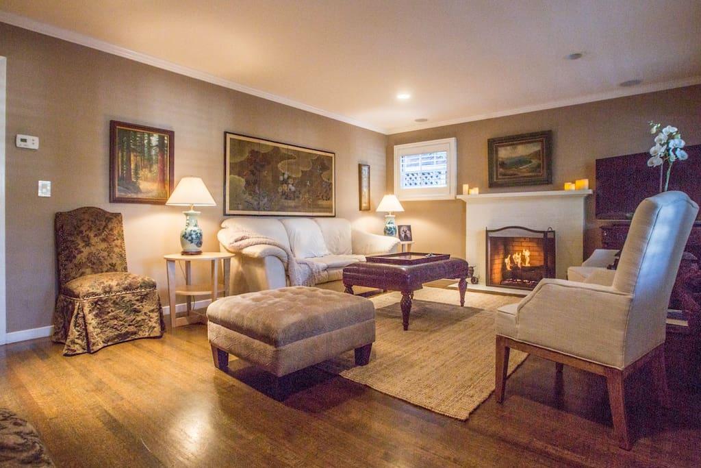 Elegant yet comfortable living room.