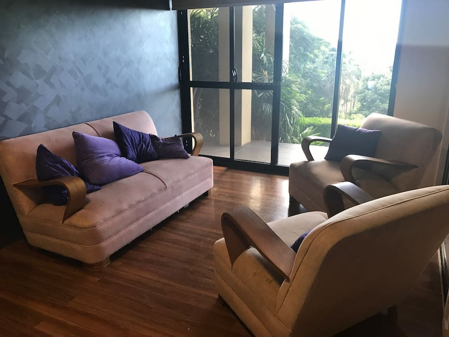 The lounge with kitchenette