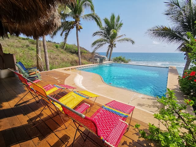 Private Beachfront Estate in Troncones w/ Chef & Daily Cleaning