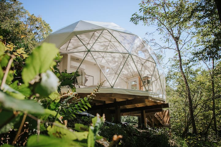 "New Luxury Glamping Dome  - ""The Overlook"""