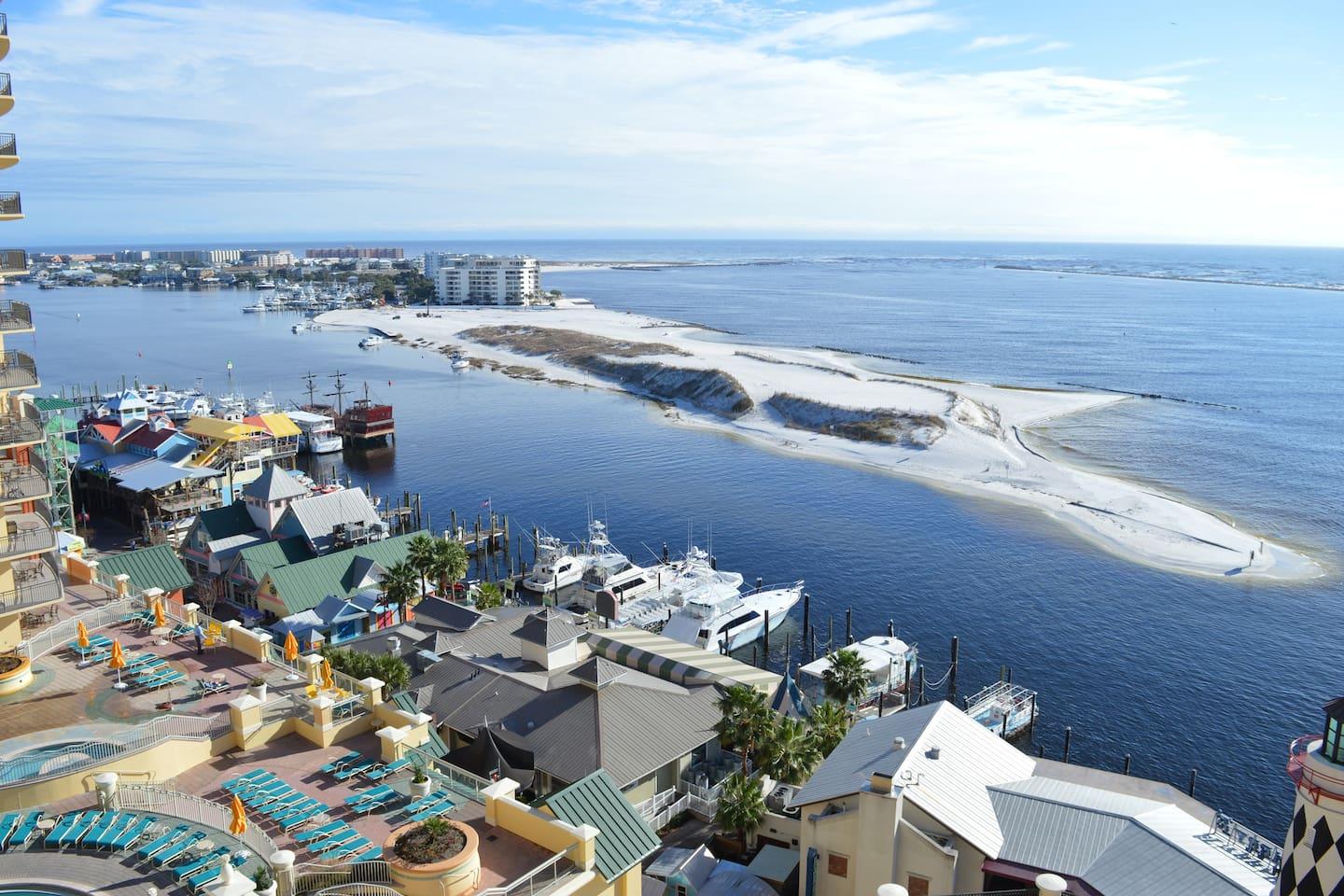 Balcony View of Destin Harbor and the Gulf