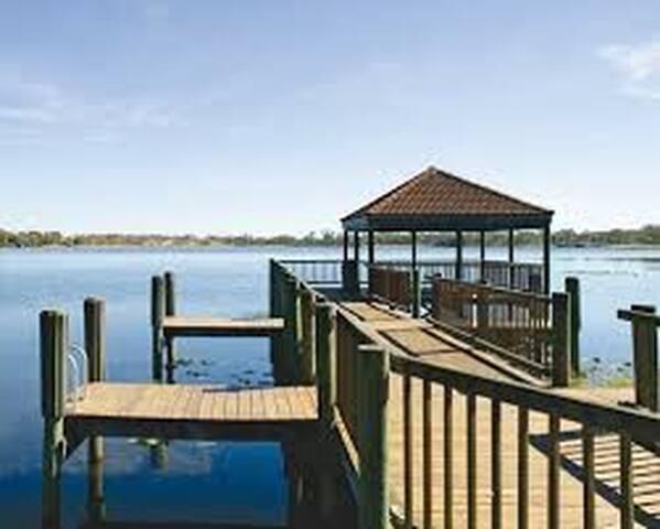Fishing Dock at Resort