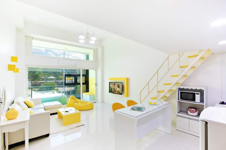 파리에 온 것만 같은 귀엽지만 넓은 레몬 객실