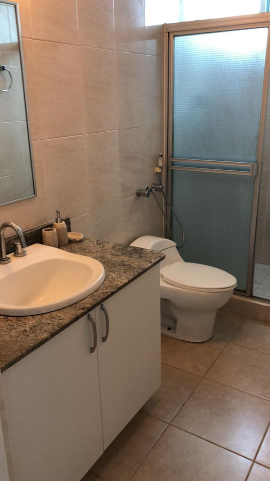 Studio with private bathroom in shared apartment