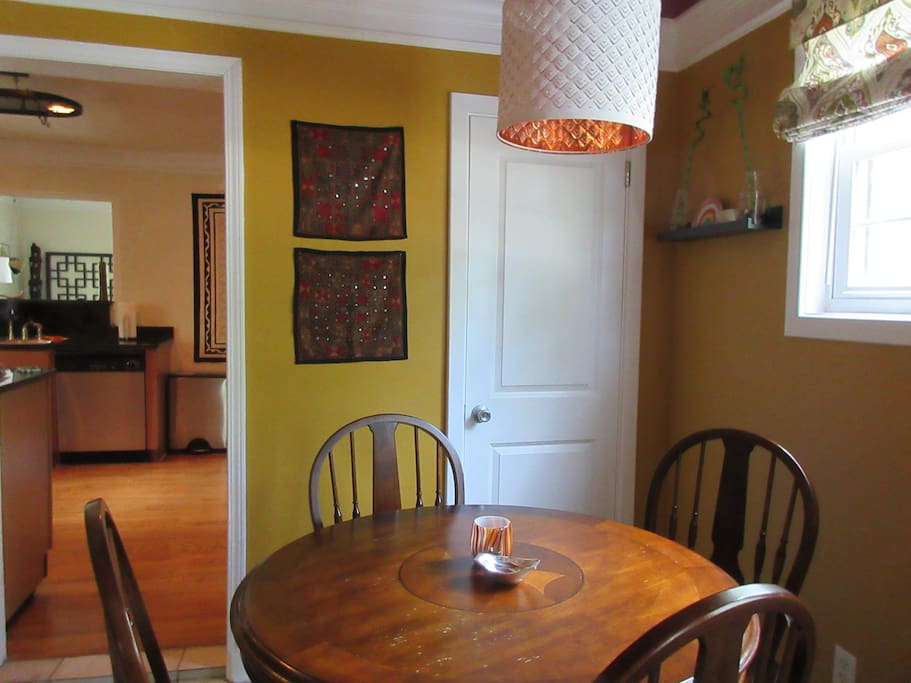The dining nook off the kitchen